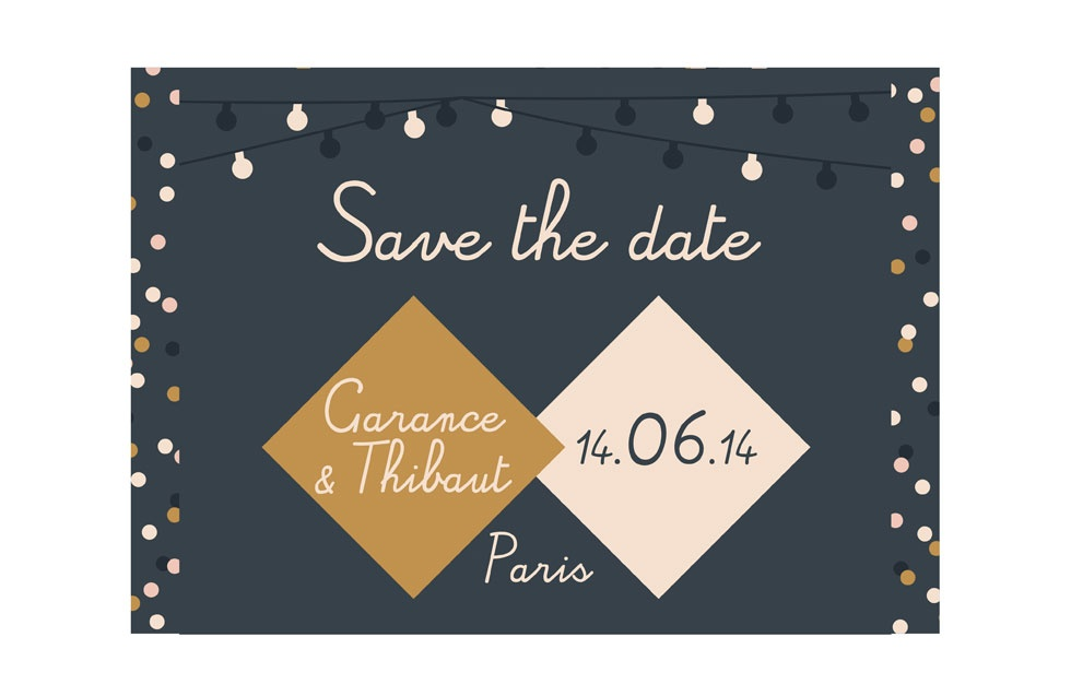 mariage save the date faire part l 39 am ricaine original personnalis et cr atif r f rence 3. Black Bedroom Furniture Sets. Home Design Ideas