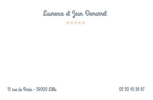 Faire part Cartes de correspondance 1
