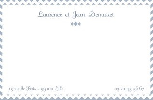 Faire part Cartes de correspondance 3