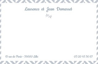 Faire part Cartes de correspondance 4