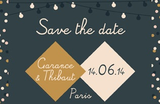Faire part Save the date 3