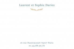 Faire part Carte de correspondance 16